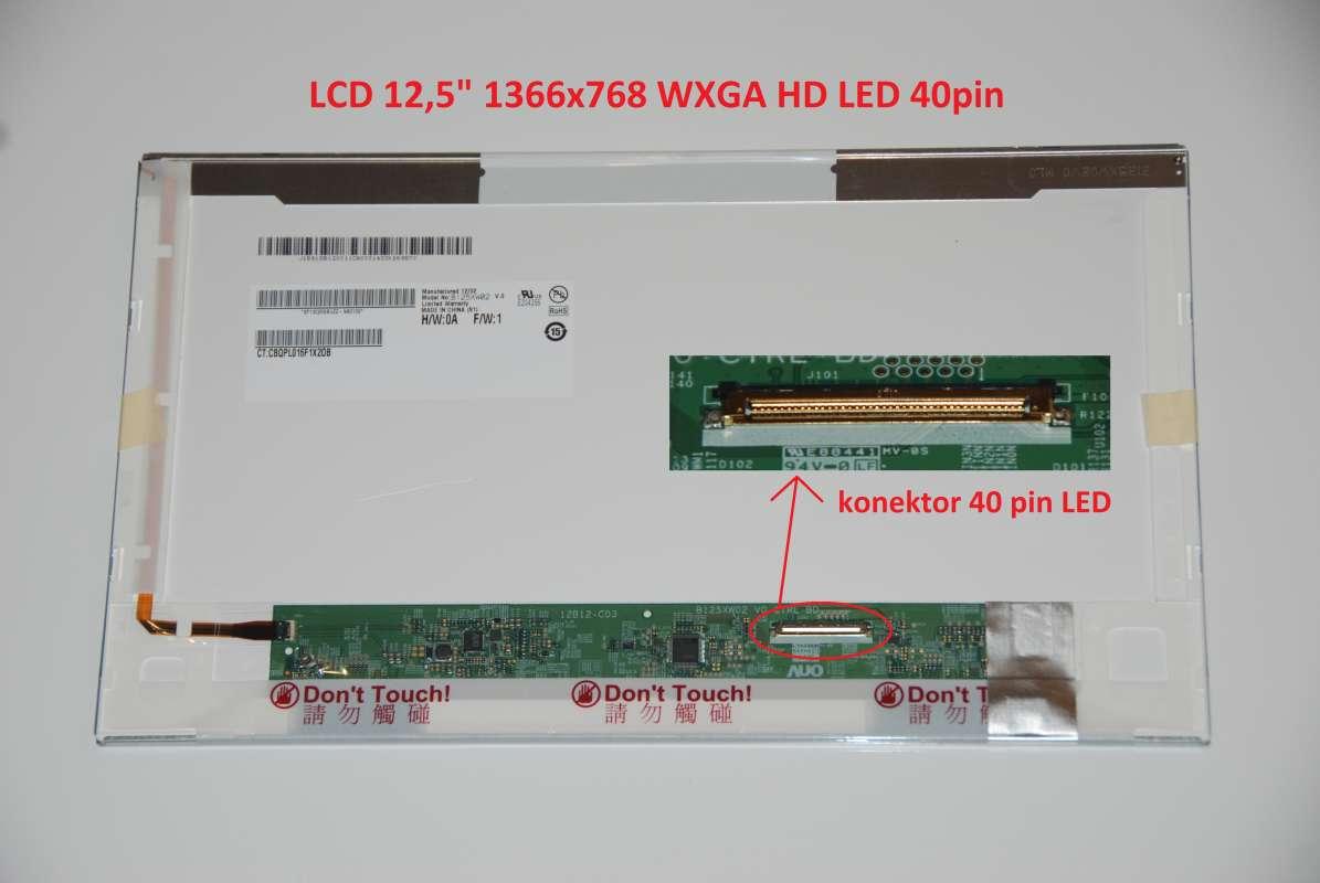 "B125XW02 V.0 LCD 12.5"" 1366x768 WXGA HD LED 40pin display displej AU Optronics"