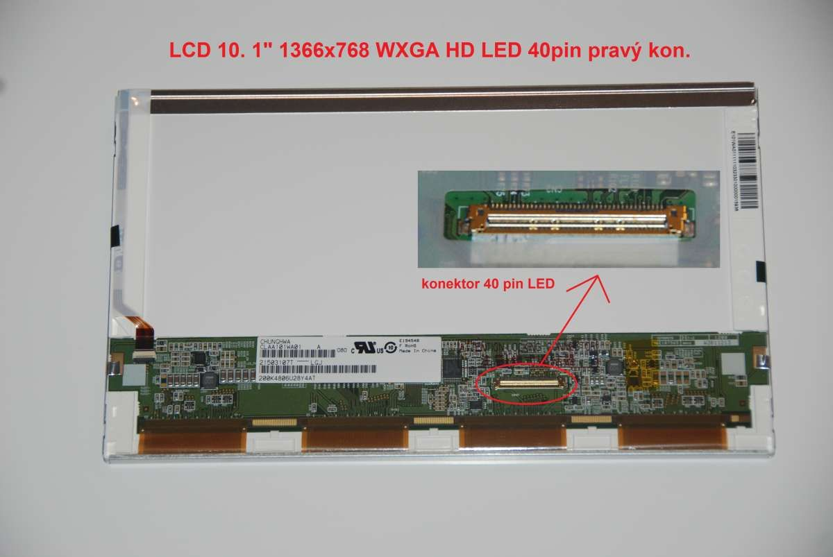 "LP101WH1(TL)(N1) LCD 10.1"" 1366x768 WXGA HD LED 40pin display displej LG Philips"