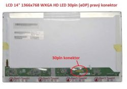 "Display LP140WH1(TP)(D1) 14"" 1366x768 LED 30pin (eDP) pravý konektor"