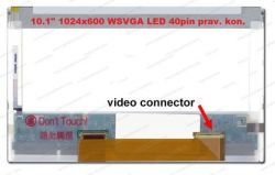 "Display HSD101PFW1 REV.0 LCD 10.1"" 1024x600 WSVGA LED 40pin prav. kon."