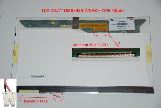 """LTN184KT01-T02 LCD 18.4"""" 1680x945 WXGA+ CCFL 30pin display displej"""