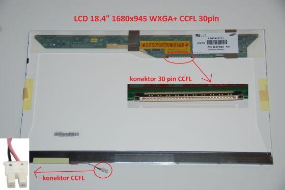 """LTN184KT01-S02 LCD 18.4"""" 1680x945 WXGA+ CCFL 30pin display displej"""