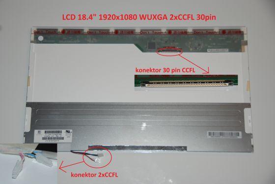 """N184H4-L01 LCD 18.4"""" 1920x1080 WUXGA 2xCCFL 30pin display displej Chi Mei"""