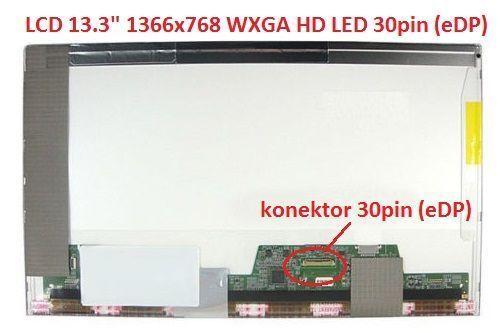 "LTN133AT17 LCD 13.3"" 1366x768 WXGA HD LED 30pin (eDP) display displej"
